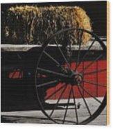 Hay On Wheels Wood Print