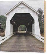 Hayden Bridge Covered Bridge Wood Print