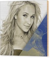Hayden Panettiere Collection Wood Print