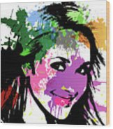 Hayden Panettiere Pop Art Wood Print