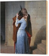 Hayez, The Kiss Wood Print