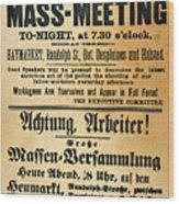 Haymarket Handbill, 1886 Wood Print by Granger