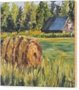 Hayroll And Barn Wood Print