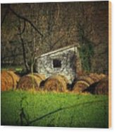 Hayroll Shed Wood Print