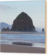 Haystack At Cannon Beach In June Wood Print