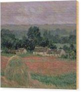 Haystack At Giverny Wood Print