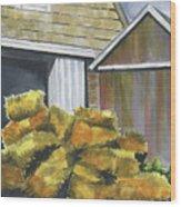 Haystack Wood Print