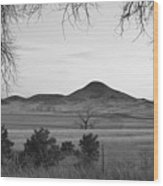 Haystack Mountain - Boulder County Colorado - Black And White Ev Wood Print
