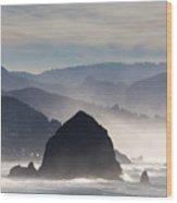 Haystack Rock On The Oregon Coast In Cannon Beach Wood Print