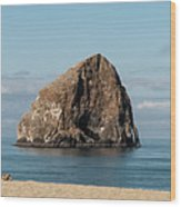 Haystack Rock - Pacific City Oregon Coast Wood Print