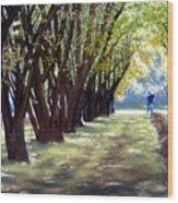 Hazel Green Wood Print