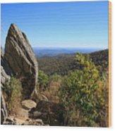 Hazel Mountain Overlook On Skyline Drive In Shenandoah National Park Wood Print