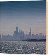 Hazy Chicago Wood Print