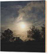 Hazy Evening Sun Wood Print