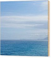 Hazy Ocean View Wood Print