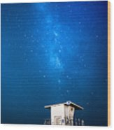 Hb Galaxy Wood Print