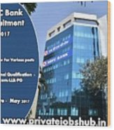 Hdfc Bank Recruitment Wood Print