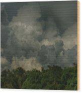 Hdr Clouds Wood Print