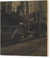 Hdr Rail Cars Wood Print