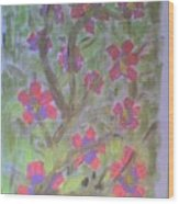 Hds-acrylic Floral Green Wood Print