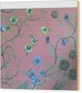 Hds-acrylic-floral-pink Wood Print