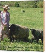 He Calls His Own Sheep By Name Wood Print