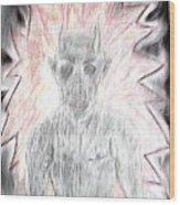 He Flame Wood Print