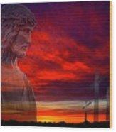 He Has Risen Wood Print