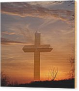 A Cross The Universe Wood Print