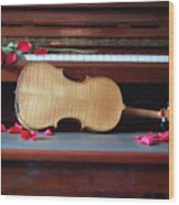 Love And Music Wood Print