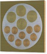 He Tu Metal Round Wood Print
