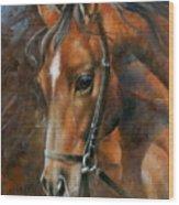Head Horse Wood Print