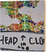 Head In The Clouds Wood Print