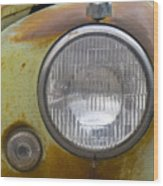 Head Light Wood Print