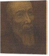 Head Of A Bald Man With A Beard Wood Print