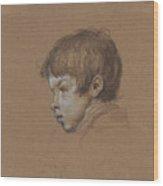Head Of A Boy Wood Print