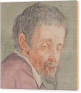 Head Of A Man With A Short Beard Wood Print