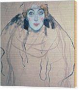 Head Of A Woman Wood Print