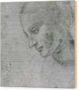 Head Of A Young Woman Or Head Of The Virgin Wood Print
