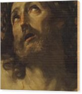Head Of Christ Crowned With Thorns 1620 Wood Print