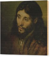 Head Of Christ Wood Print