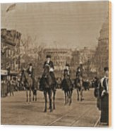 Head Of Washington D.c. Suffrage Parade Wood Print