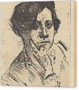 Head Of Woman (frauenkopf) Wood Print