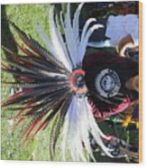 Head Piece Dancer Day Of The Dead  Wood Print