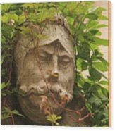 Head With Vines Wood Print