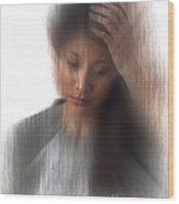 Headache Sufferer Wood Print