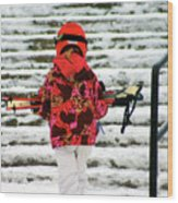 Heading For The Slopes Wood Print