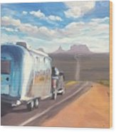 Heading South Towards Monument Valley Wood Print