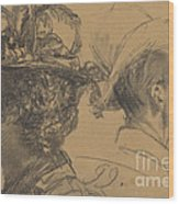 Heads Of A Man And A Woman Wood Print