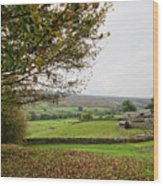 Healaugh, Swaledale Wood Print